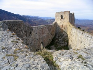 Interior del Castillo de Montsegur