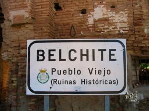 Entrada al pueblo de Belchite